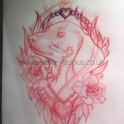dachshund dog tattoo design huddersfield helen aldous