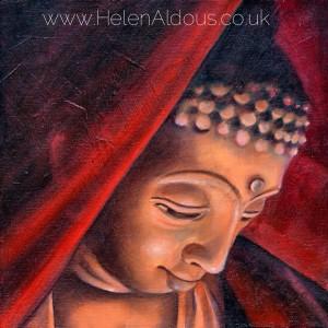 Veiled Buddha. Oil on canvas