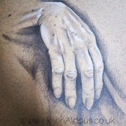 Wise hand. Drawn from life.