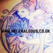 Helen Aldous tattoo design. Beer Goddess.