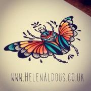 Goliath beetle illustration - Helen Aldous