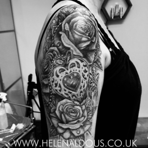 Roses & Locket Tattoo